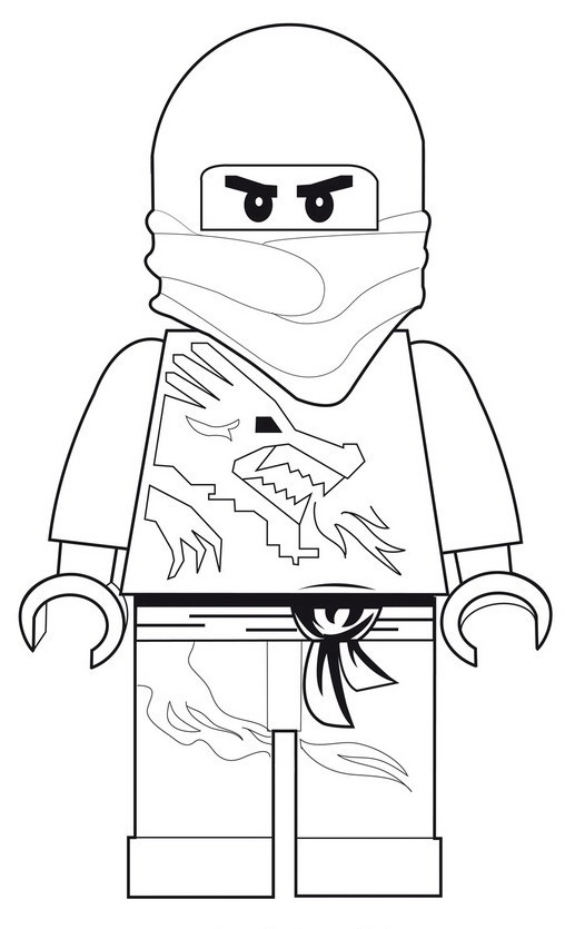 Ninjago Coloring Pages Jay Dx