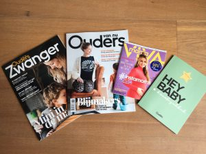 tijdschriften in de zwangerbox